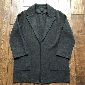 J. Crew Sweater Blazer Merino Wool Charcoal Small